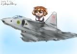 雷とサーブ37ビゲン戦闘機