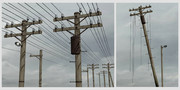古い木製電柱