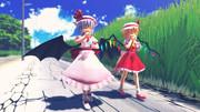 【MMD】スカーレット姉妹とかき氷