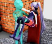 プリンセス抱っこされるシビラ