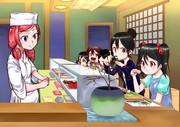 手真姫寿司でお祝い。