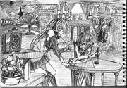 2B鉛筆で結月ゆかり描いてみた【その34】+琴葉茜+弦巻マキ+琴葉葵
