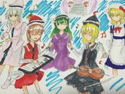 プリズムリバー4姉妹とカナちゃん