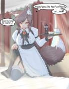 朝から元気にしてくれそうなメイド影狼さん♡