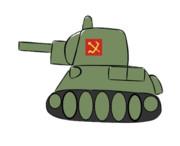T-34がぼよぼよ動くだけ