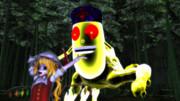 フランちゃん、コガネヤゴコロオオムシと遭遇する