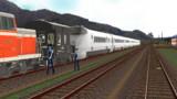 上葱別駅臨貨発車前の風景