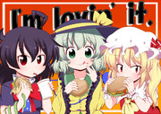 EX三人娘とハンバーガー!