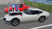 トヨタ2000GT  ワイヤーホイール付き、配布します。