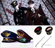 【アクセサリ配布】軍帽と鞭のセット