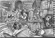 2B鉛筆で結月ゆかり描いてみた【その35】+弦巻マキ+琴葉茜+琴葉葵