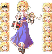 バトルっぽいアリス立ち絵描き直し 表情差分