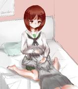 エリみほ膝枕
