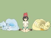 【GIF】温かいキュウコン 冷たいキュウコン