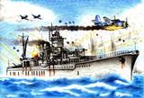 軽巡洋艦矢矧 対空戦闘!