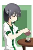 お茶入れ古風楓ちゃん
