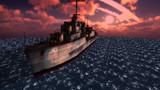お借りした駆逐艦で1枚