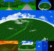 【MMD】長い階段のある丘と森ステージの配布