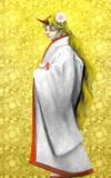 【コボニティ企画】勇儀姐さんに白無垢を着て頂きました