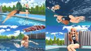 【MMD】レア様が50m平泳ぎでリベンジするそうです