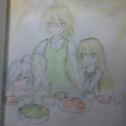 素体三姉妹の朝ごはん
