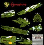 【モデル配布】メダルーサ級殲滅型重戦艦<メガルーダ>