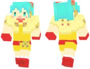 【Minecraft】初音ミク の スキンサンプル【ねこねこケープ】