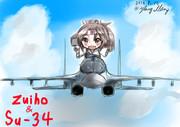 瑞鳳とSu-34戦闘爆撃機