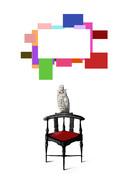 椅子とフクロウとフクロウちゃん