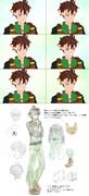 表情再現とモデリング時の下絵