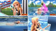 【MMD】レア様、今度は50m平泳ぎに挑戦! はたしてタイムは?