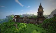 小さな村の立派な門