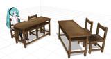【MMD】古い椅子と机【配布】