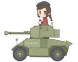装甲車、乗ります!