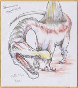 今日の色紙#7「スピノサウルス」