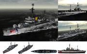 MMD用モブ哨戒艦・水上機母艦1940セット