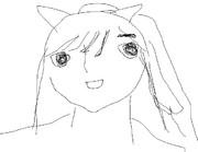 高嶺 愛花(たかみね まなか)を1分で描いてみた