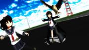 【MMD艦これ】鷲が止まろうとして羽菜が助けを求めるも怖くて逃げてしまうほたる【響提督の日常】