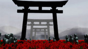 【MMD風景画祭】鳥居と彼岸花と地蔵さま