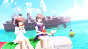 南洋の駆逐艦と西瓜