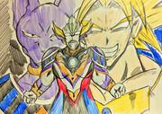 もしも破壊神と伝説の超サイヤ人とのフュージョンアップがあったら。