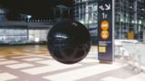 国際展示場に現れる謎の球体