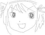 1分で涼宮ハルヒを描いてみた