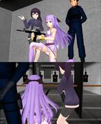 【MMD】 時報ちゃんが射撃場の機器で訓練