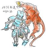私小説用イラスト.海軍機べネル&肉達磨(仮)