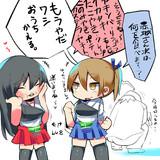 小さい赤城さんと加賀さん