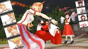 博麗神社にて、鬼のご指名は・・・その後、星熊勇儀VS博麗霊夢