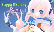 祝!Ranaちゃん2周年
