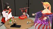 博麗神社にて、星熊勇儀vs博麗霊夢のその後・・霊夢の願い!