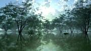 【MMDステージ配布】水辺の公園 TH8【スカイドーム】